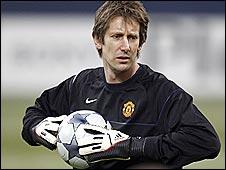 Man Utd keeper Edwin Van der Sar