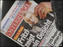 Primera página de diario austriaco con la cobertura del juicio contra Josef Fritzl