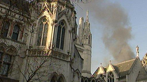 Smoke in central London