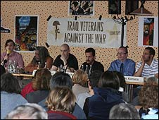 Iraq Veterans Against the War meeting