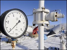 Gauge on gas pumping station in Ukraine