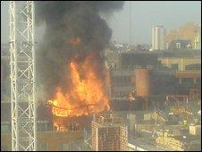 Fire in Chancery Lane. Image from Jasper Pandza
