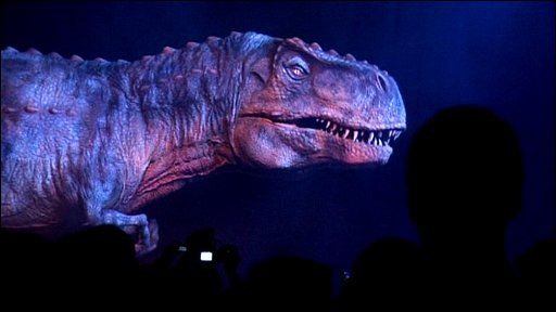 The lauch of walking with dinosaurs live
