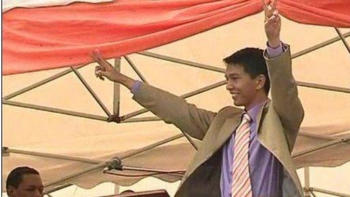 Madagascar's interim leader Andry Rajoelina
