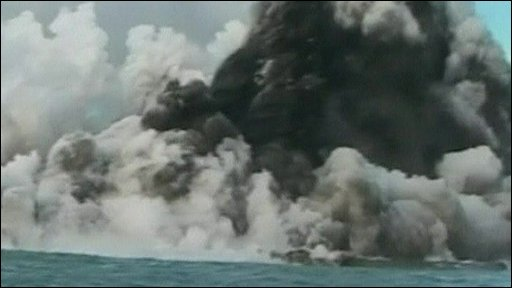Volcano erupts near Tonga