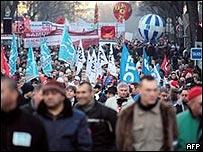 Huelga en Francia en enero 2009