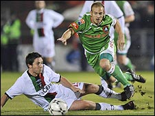 Glentoran lost 2-1 to Cork City in the 2008 final at Turner's Cross