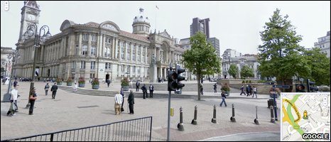 Birmingham Street View image (Google)