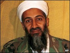 Osama bin Laden in Afghanistan in an undated file image