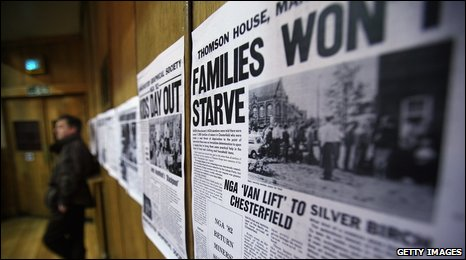 Display on the miners' strike to mark the 25th anniversary
