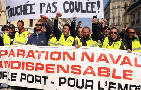 People protest in Marseille
