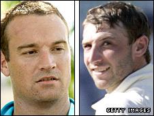 Fast bowler Stuart Clark and opener Phillip Hughes