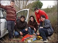 Los cuatro miembros del proyecto Meteotek