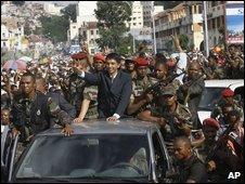 Andry Rajoelina in Antananarivo on 17 March 2009