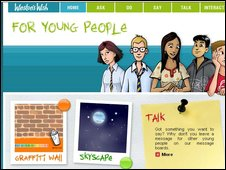 Winston's Wish website for young people