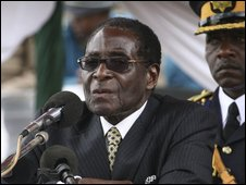 Mr Mugabe in Harare, 14 March