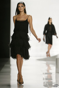 Model at New York fashion week
