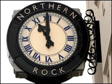 Northern Rock sign
