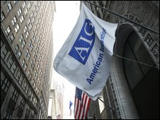 File photograph of an AIG building in New York