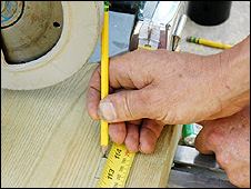 Generic picture of a carpenter at work