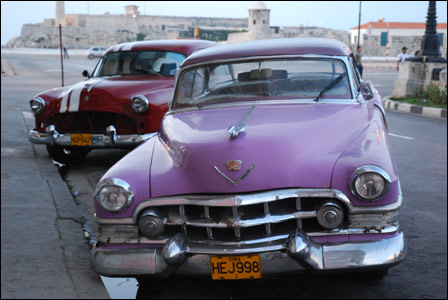 Cars in Havana street