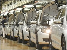 Car production line Germany