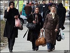 Iranian women in Tehran