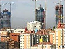 Spanish buildings under construction