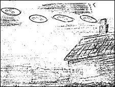 Sketch of UFOs [pic: national archives]