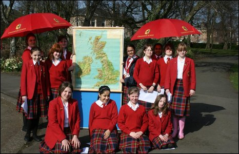 Weather reporters at Craigholme School in Glasgow filmed their week-long