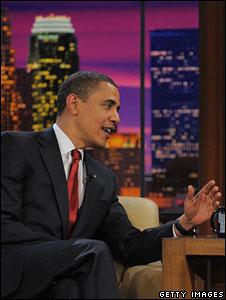 Barack Obama on the Tonight Show with Jay Leno