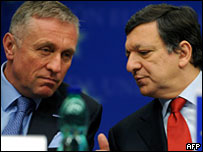 Мирек Тополанек и Жозе Мануэл Баррозу