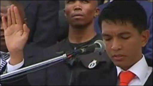 Madagascar's Andry Rajoelina is sworn in