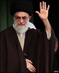 Ayatollah Ali Khamenei in Mashhad, 21 March 2009