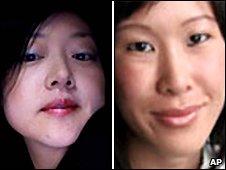 Euna Lee (L) and Laura Ling - AP file photo