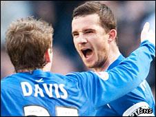 Steven Davis congratulates goalscorer Barry Ferguson