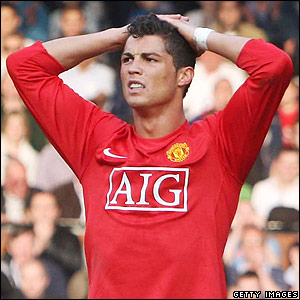 Ronaldo shows his disappointment