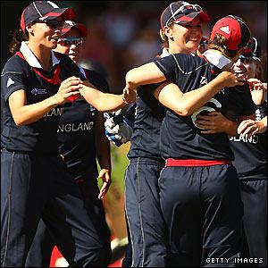 England celebrate