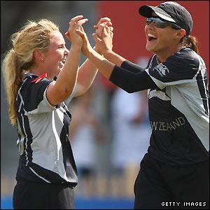 Lucy Doolan celebrates a wicket