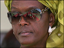 File photo of Grace Mugabe, April 2008