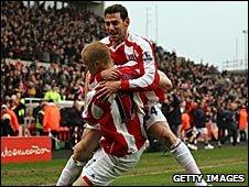 Stoke City celebrations