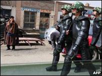 Китайские солдаты в провинции Цинхай