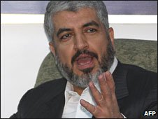 Khaled Meshaal in Damascus, 18 March 2009