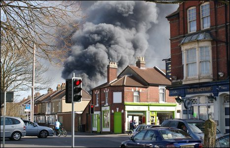 Smoke seen from streets in Gosport