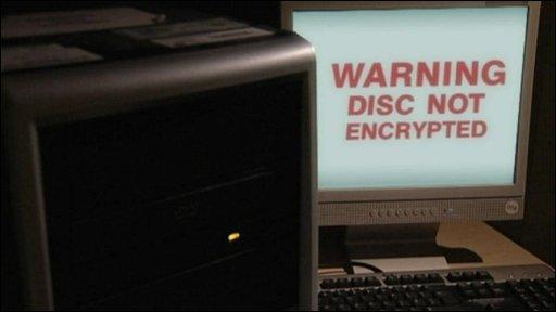 Computer data warning
