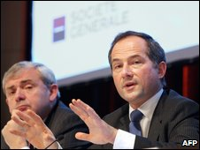 Societe Generale chief executive Frederic Oudea (right) and his deputy Didier Alix