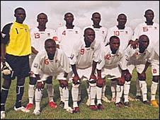 Gambia's Baby Scorpions team
