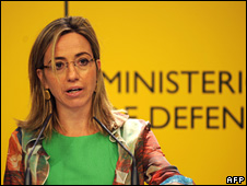 Spanish Defence Minster Carme Chacon (file)