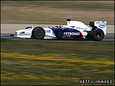 Robert Kubica in the BMW Sauber F1.09