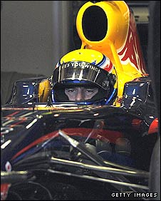 Mark Webber in the Red Bull